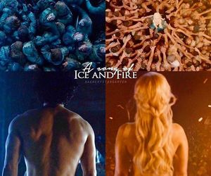 jon snow, game of thrones, and daenerys targaryen image