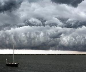 cloud, sailboat, and gray image
