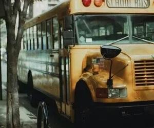 bus, school bus, and vintage image
