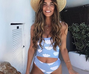 summer, hat, and blue image