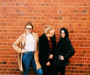 funky, girls, and brick image