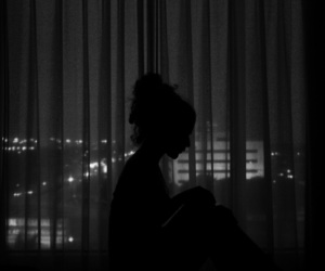 girl, night, and tumblr image