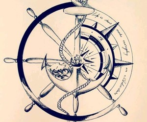 anchor, compass, and rope image