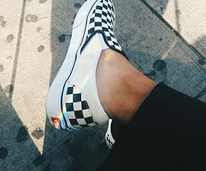 aesthetic, rainbow, and vans image