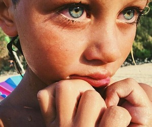 cute children and pretty eyes image