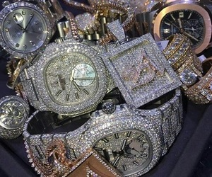 bling, diamonds, and rich image