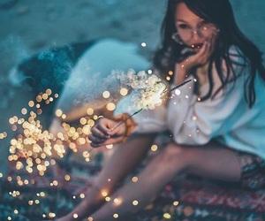 lights, brandon woelfel, and girl image