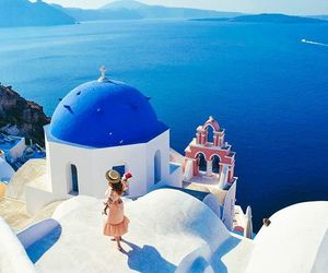 blogger, girl, and Greece image