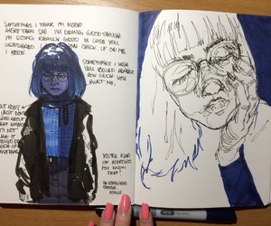 art, art journal, and black image