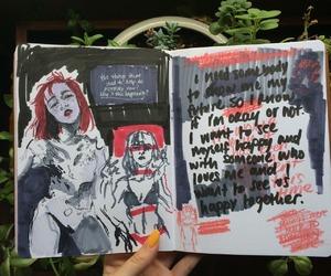 art, art journal, and black image