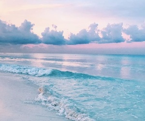 beach, pastel, and blue image