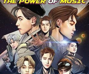 exo, power, and sehun image