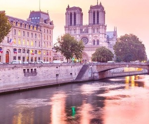 france, paris, and pink image