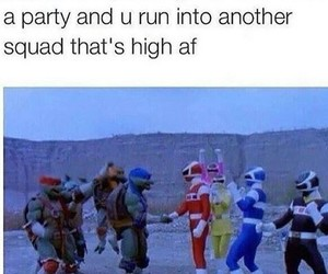funny, squad, and power rangers image