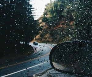 rain, autumn, and car image