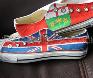 converse shoes and custom flag image