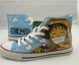 one piece and anime luffy shoes image