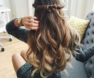 long, ombre, and curls image