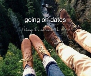autumn, couples, and dates image