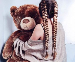 hair, bear, and braid image