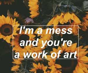 sunflower, quote, and flowers image