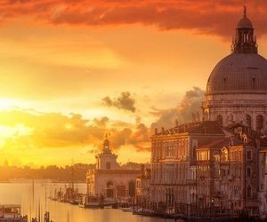 venice, sunset, and italy image