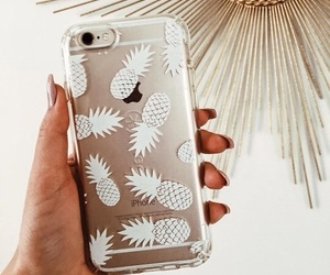 gold, phone case, and pineapples image