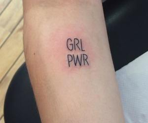 tattoo, girl power, and grl pwr image