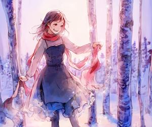anime girl, art, and dress image