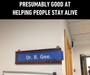 stayin alive, 9gag, and bee gees image
