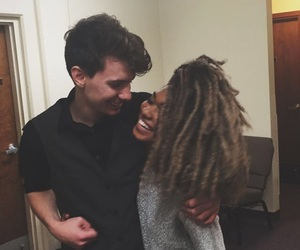 couple, curls, and swirl image