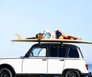 car, girl, and life image