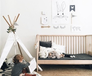baby, bedroom, and bunny image