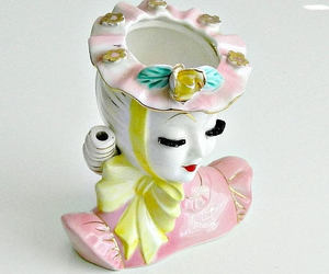 1950s, pink and yellow, and collectible image