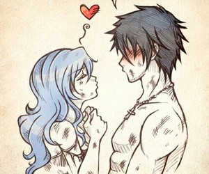 anime, gruvia, and fairy tail image