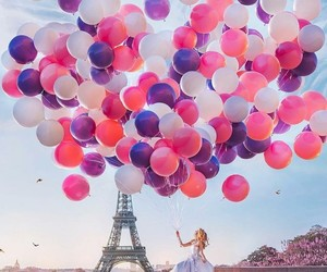 balloons, city of love, and Dream image