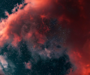 stars, wallpaper, and clouds image