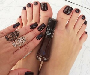beauty, black, and foot image