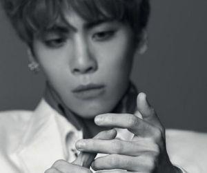 black and white, Jonghyun, and SHINee image
