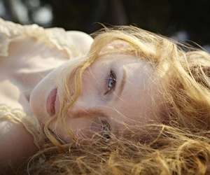 blue eyes, molly quinn, and red hair image