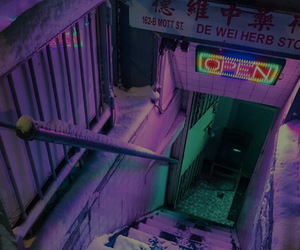 aesthetic, neon, and purple image