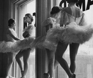 art, ballet, and black and white image