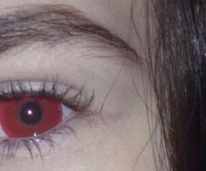 eye and red image
