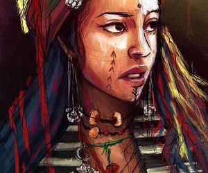 africa, art, and girl image