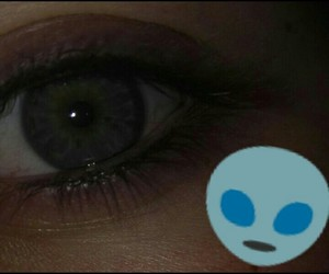 alien, purpleeye, and me image