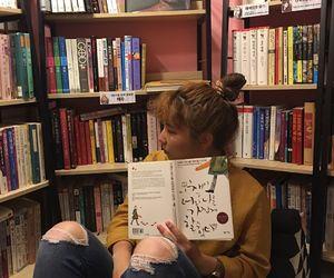 books, fashion, and girls image