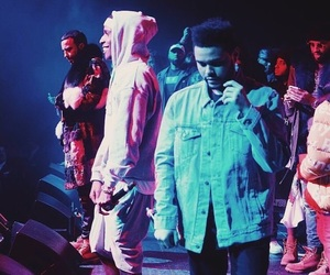 stage, french montana, and the weeknd image
