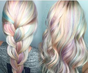 pastel, hair, and inspiration image