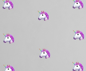 unicorn, apple, and grey image