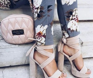 floral, heels, and pants image